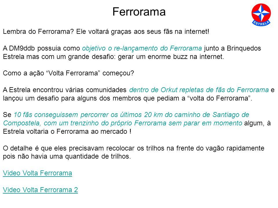 Ferrorama Lembra do Ferrorama Ele voltará graças aos seus fãs na internet!