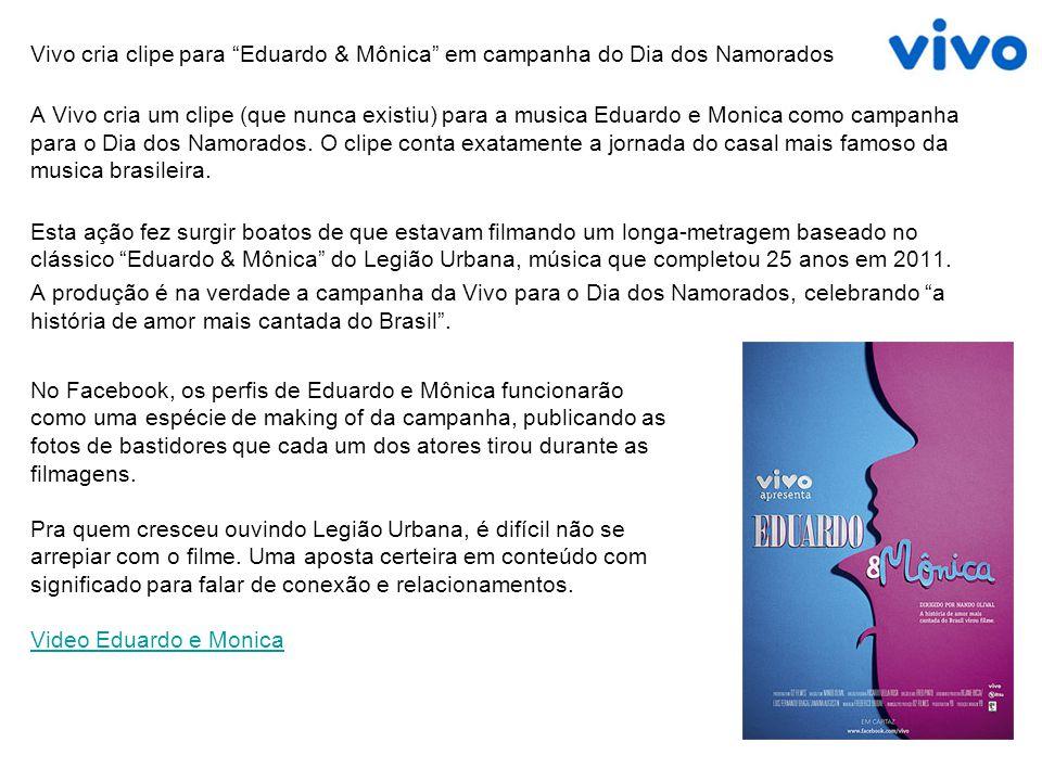 Vivo cria clipe para Eduardo & Mônica em campanha do Dia dos Namorados