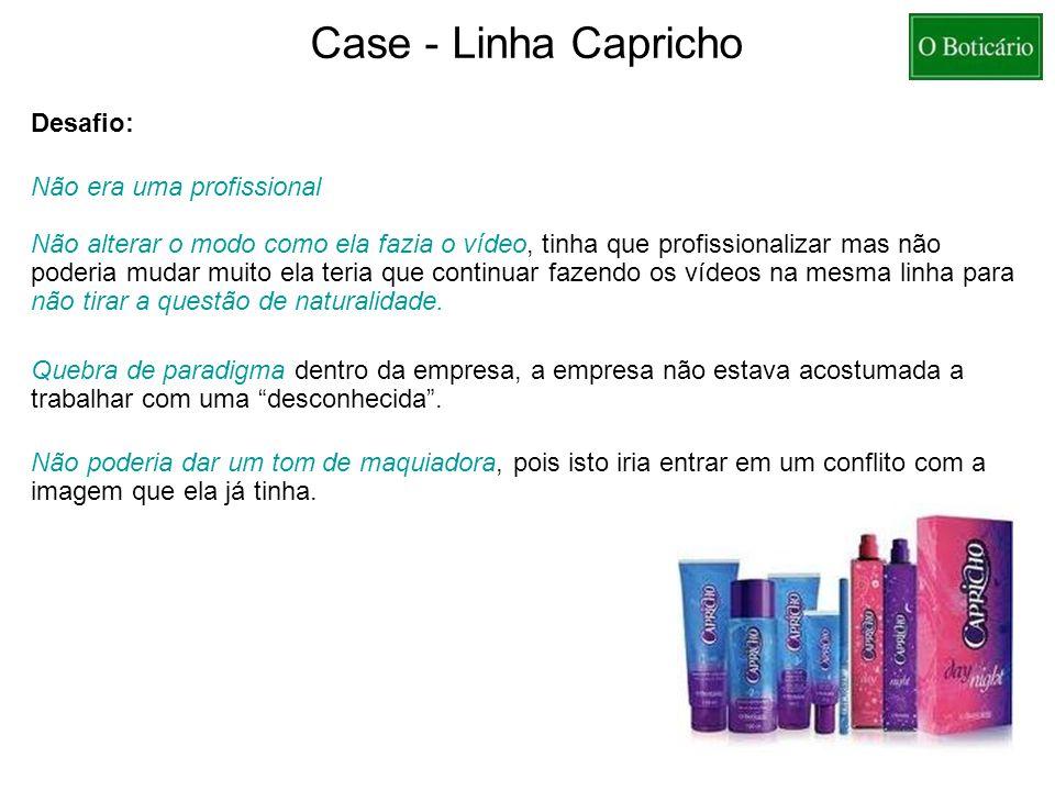 Case - Linha Capricho Desafio: