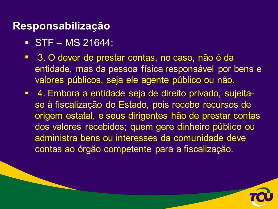 Responsabilização STF – MS 21644: