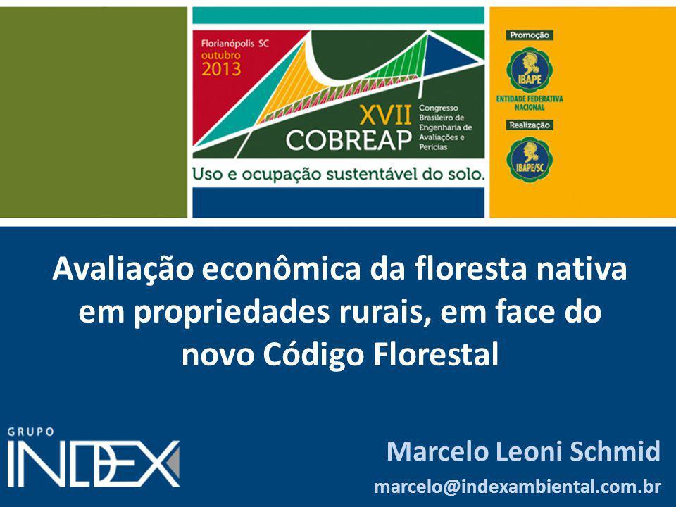 Avaliação econômica da floresta nativa em propriedades rurais, em face do novo Código Florestal
