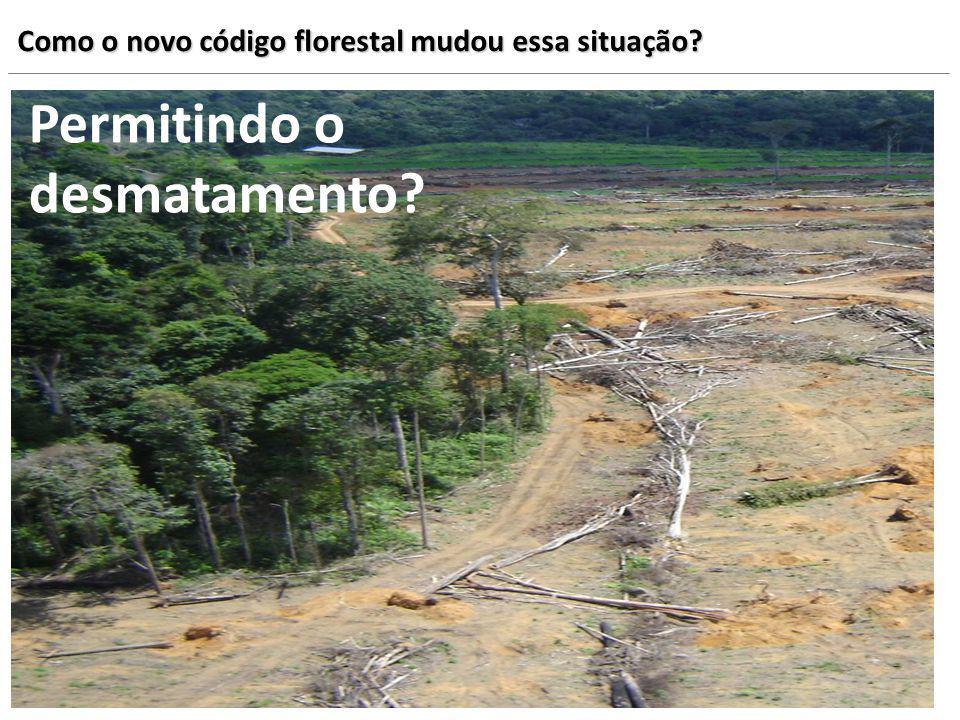 Permitindo o desmatamento