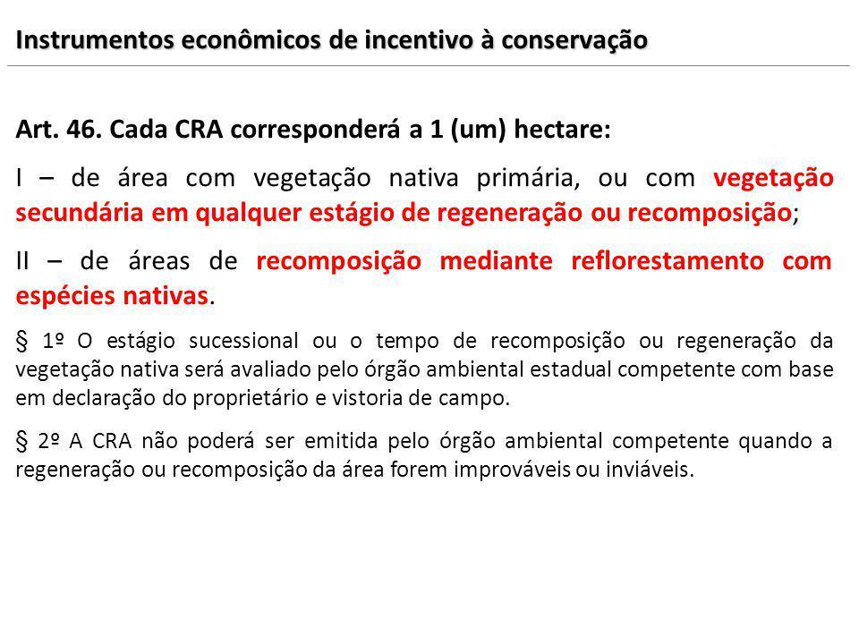 Instrumentos econômicos de incentivo à conservação