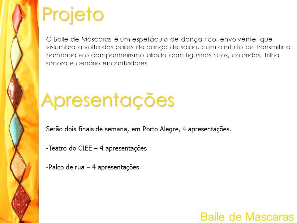 Projeto Apresentações Baile de Mascaras