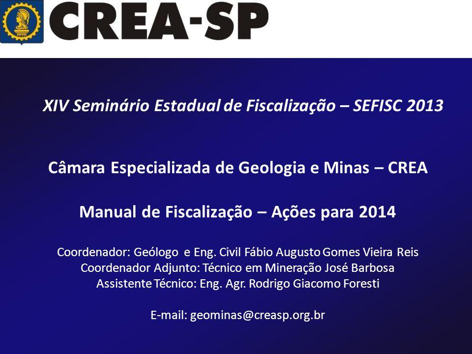 XIV Seminário Estadual de Fiscalização – SEFISC 2013
