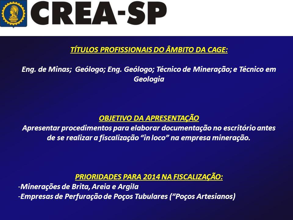 TÍTULOS PROFISSIONAIS DO ÂMBITO DA CAGE: