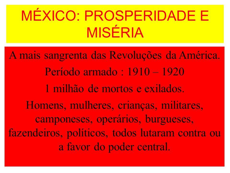 MÉXICO: PROSPERIDADE E MISÉRIA