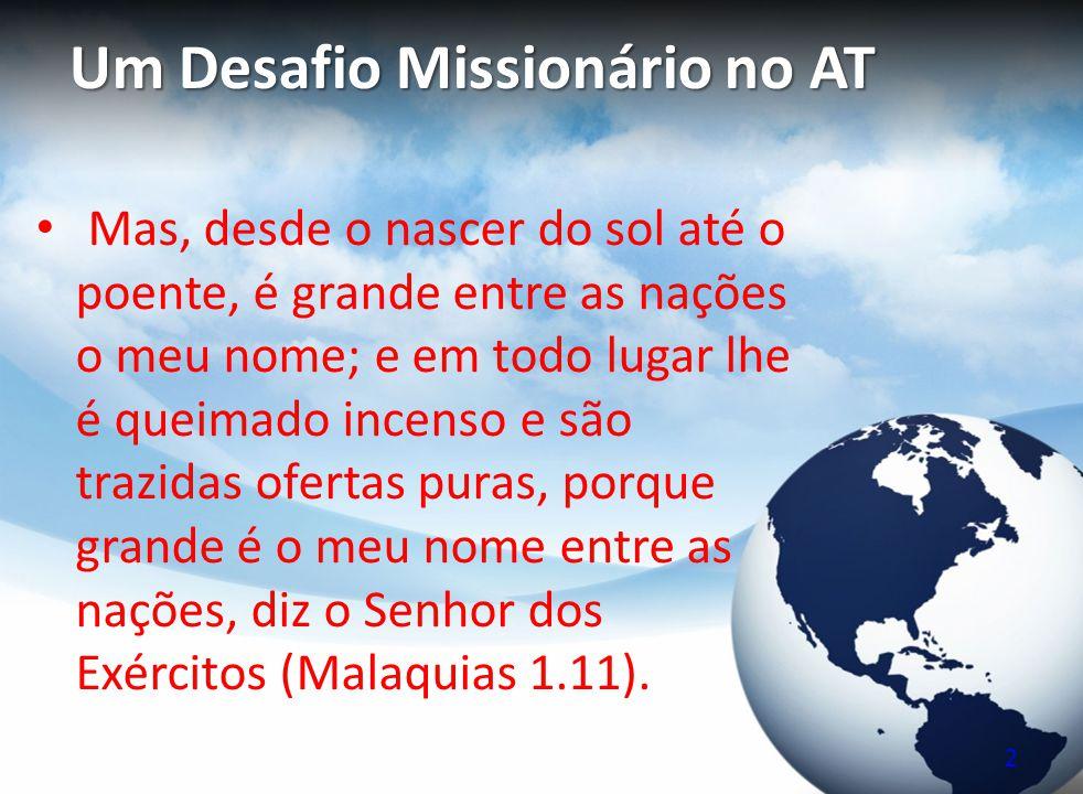 Um Desafio Missionário no AT
