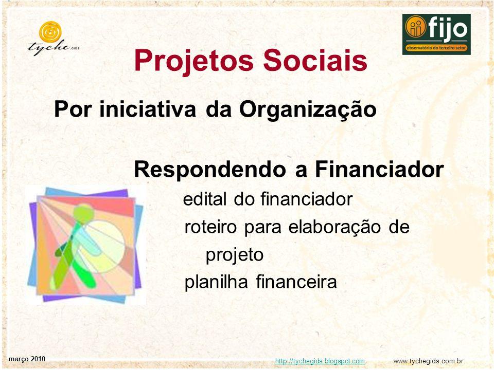 Projetos Sociais Por iniciativa da Organização