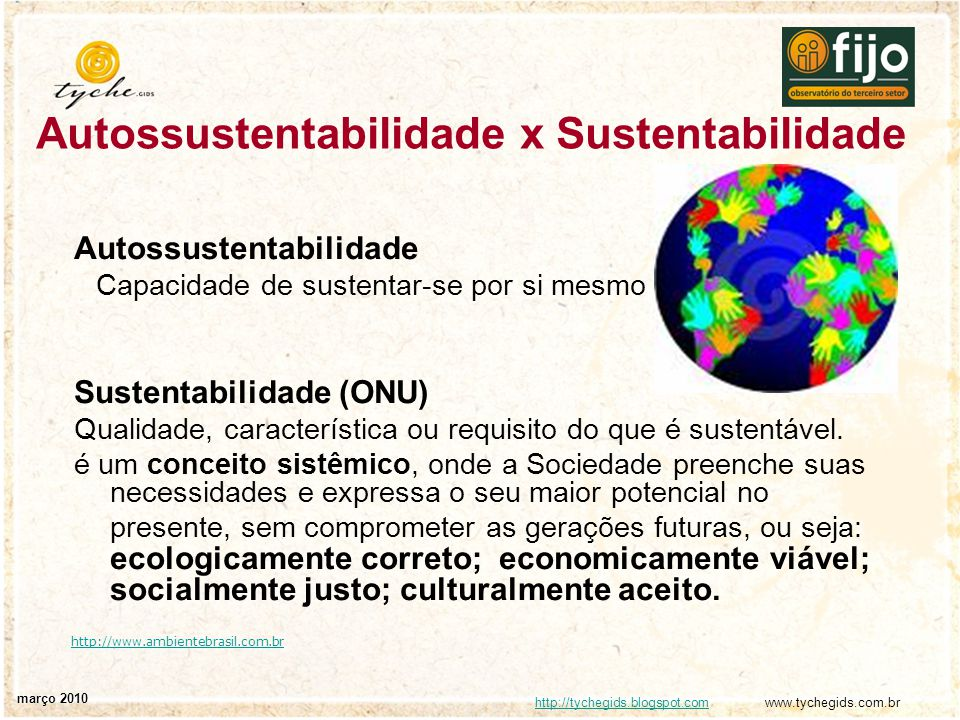 Autossustentabilidade x Sustentabilidade