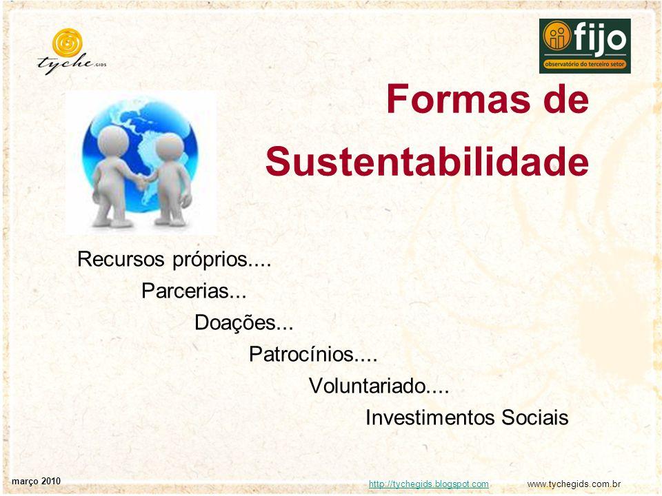 Formas de Sustentabilidade