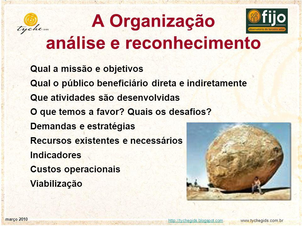 A Organização análise e reconhecimento