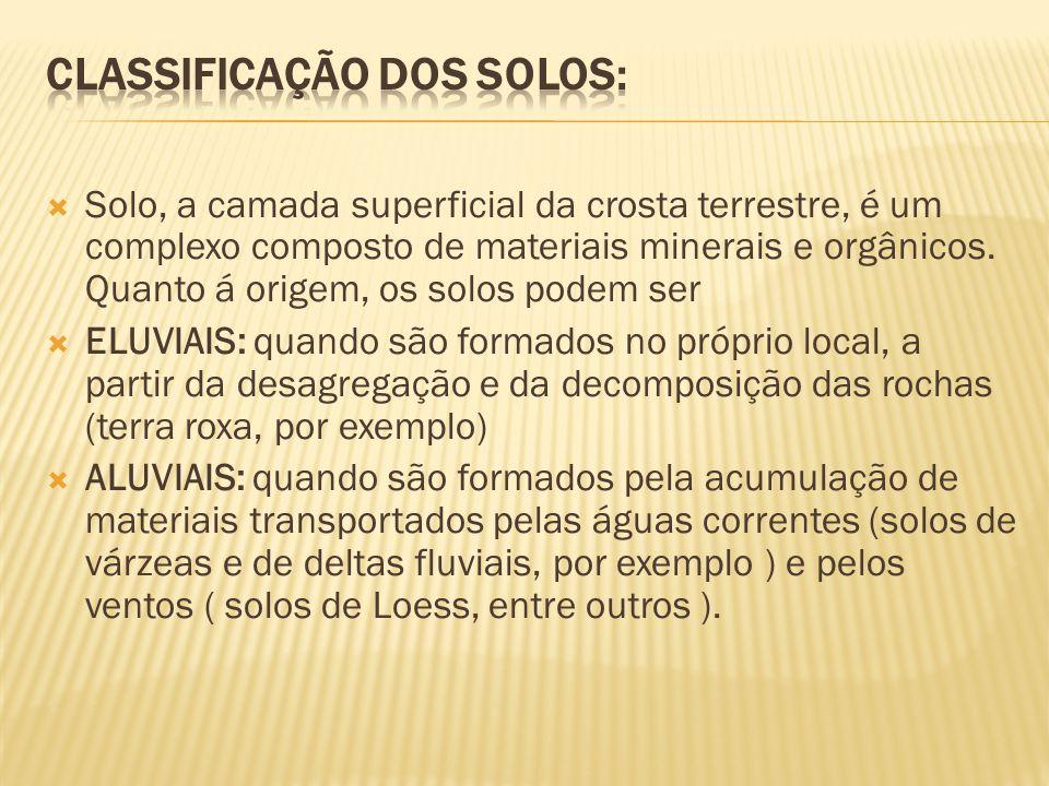 CLASSIFICAÇÃO DOS SOLOS: