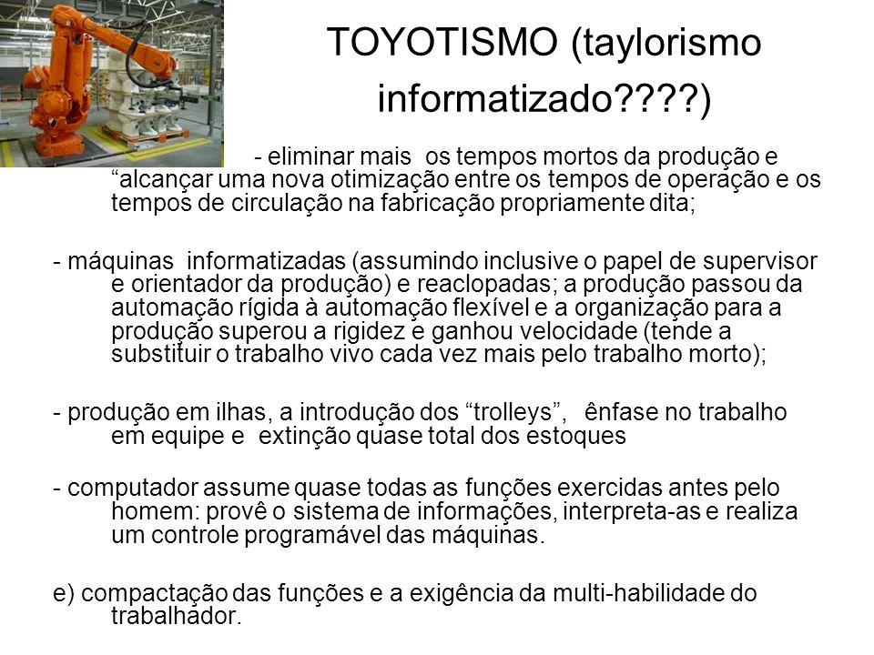 TOYOTISMO (taylorismo informatizado )