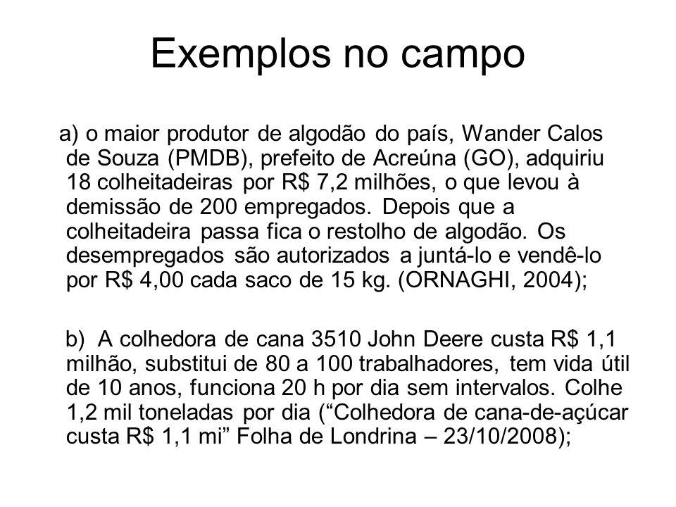 Exemplos no campo
