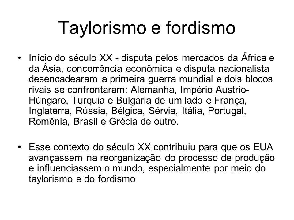 Taylorismo e fordismo