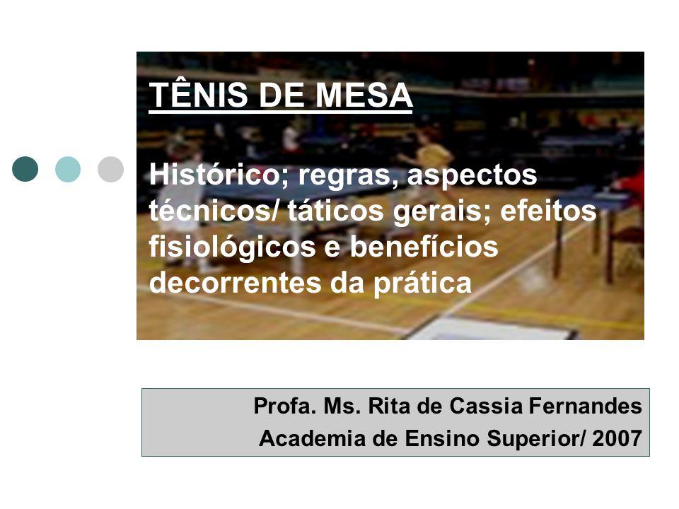 Profa. Ms. Rita de Cassia Fernandes Academia de Ensino Superior/ 2007