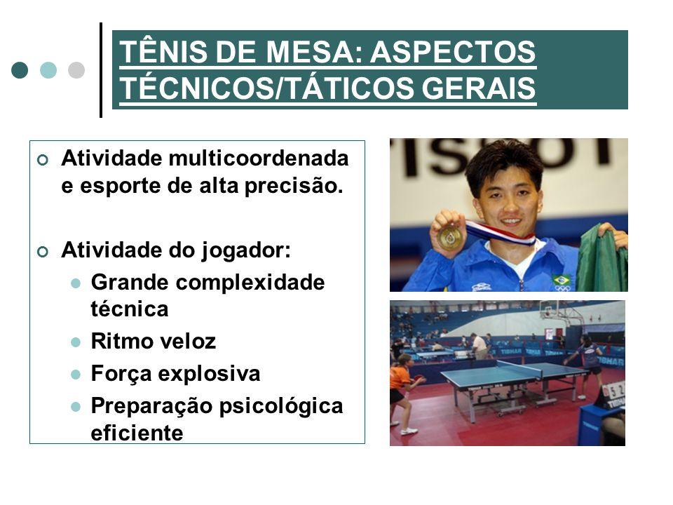 TÊNIS DE MESA: ASPECTOS TÉCNICOS/TÁTICOS GERAIS