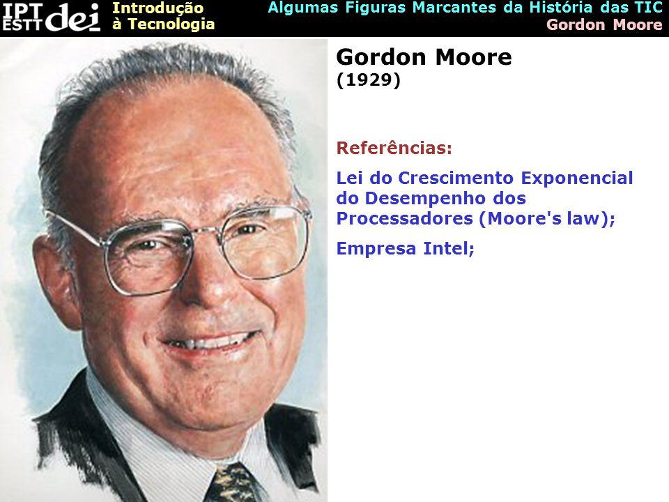 Gordon Moore (1929) Referências: