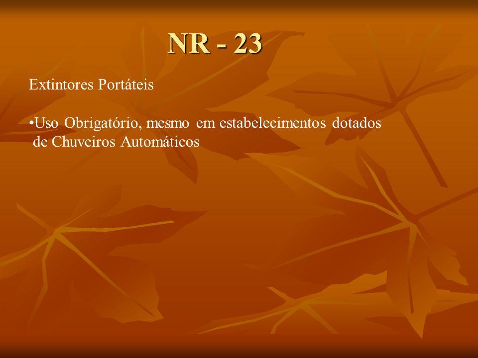 NR - 23 Extintores Portáteis