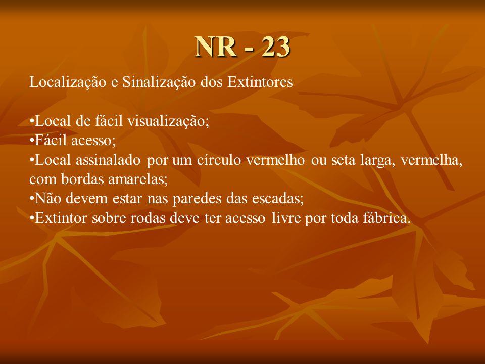 NR - 23 Localização e Sinalização dos Extintores