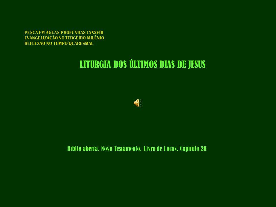 Bíblia aberta. Novo Testamento. Livro de Lucas. Capítulo 20