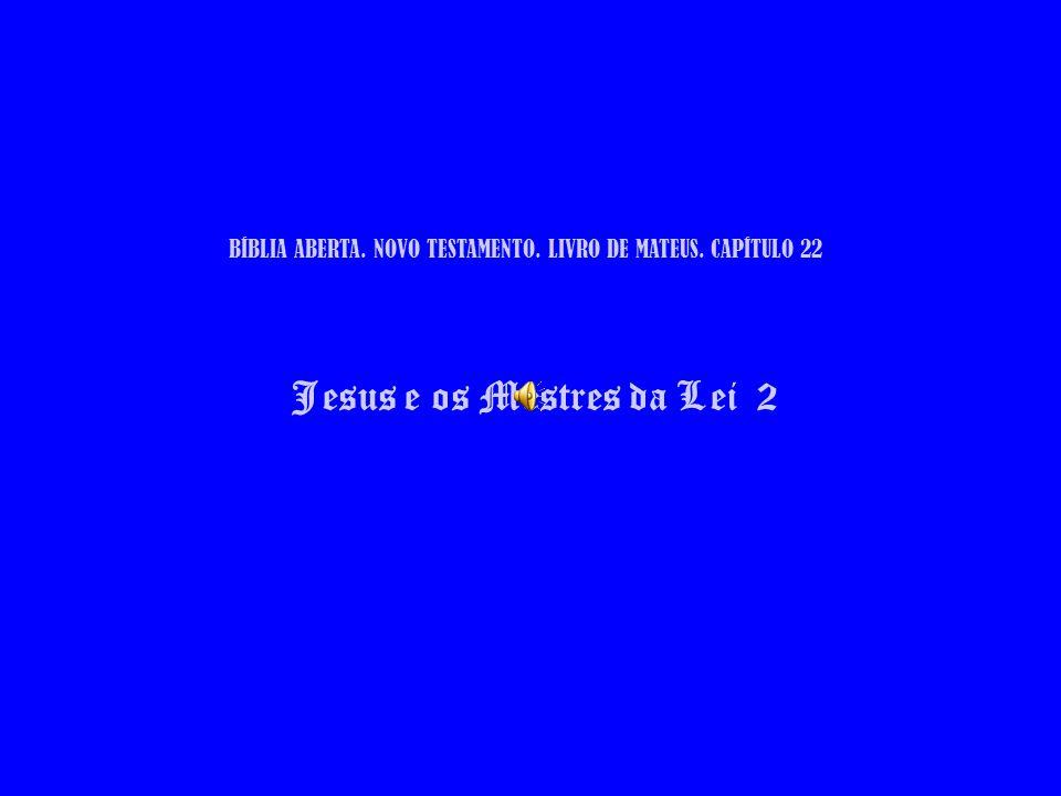 BÍBLIA ABERTA. NOVO TESTAMENTO. LIVRO DE MATEUS. CAPÍTULO 22