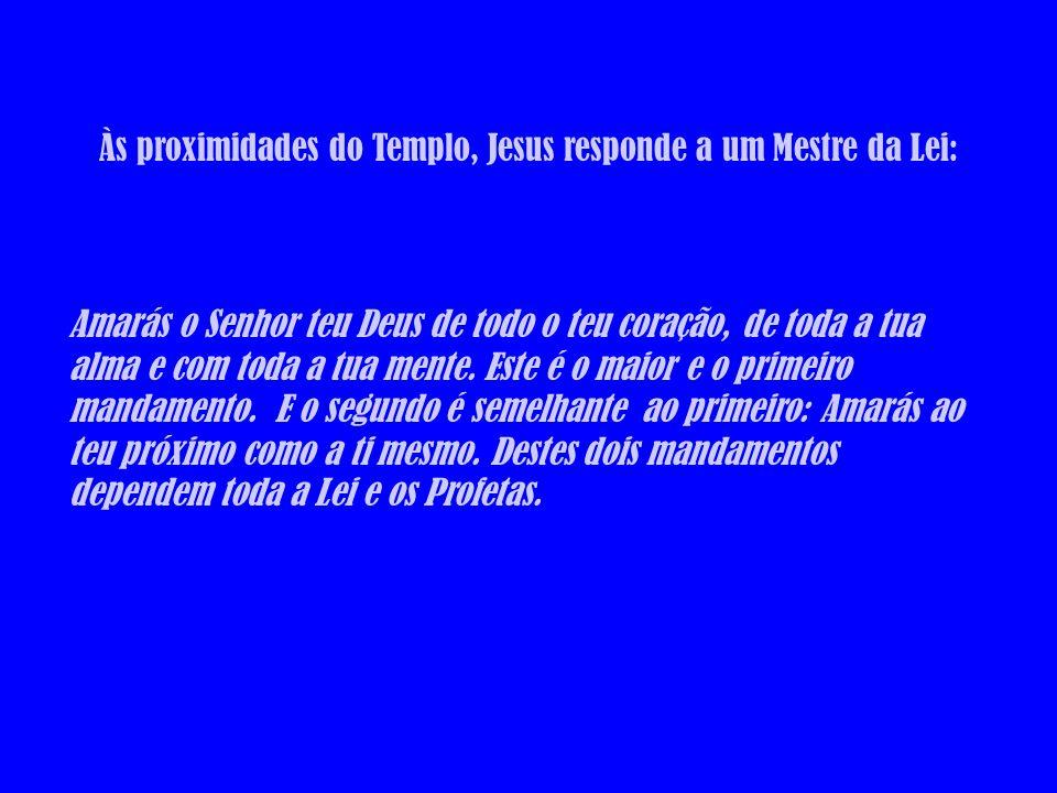 Às proximidades do Templo, Jesus responde a um Mestre da Lei:
