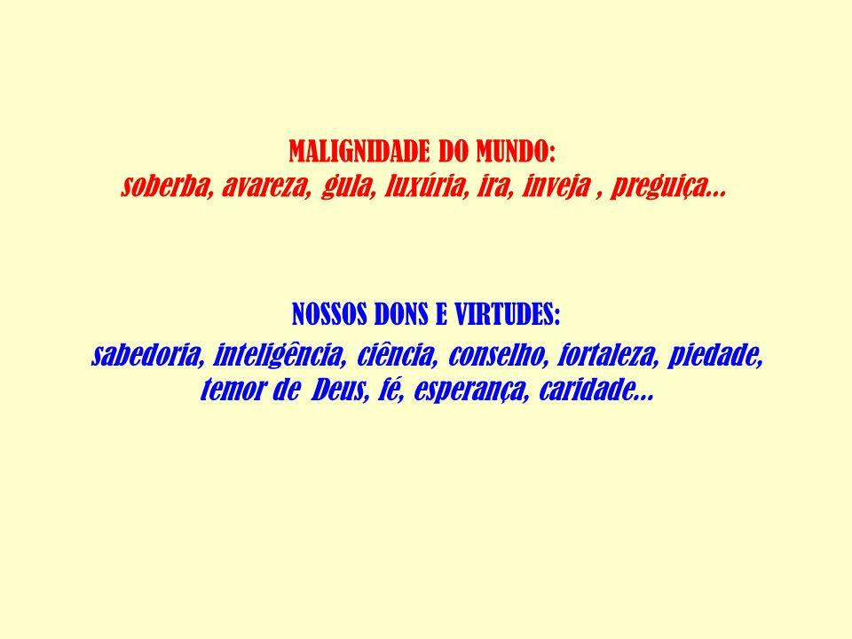 NOSSOS DONS E VIRTUDES:
