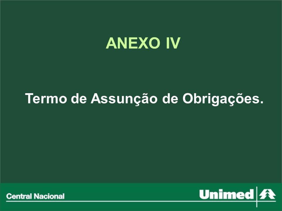 ANEXO IV Termo de Assunção de Obrigações.