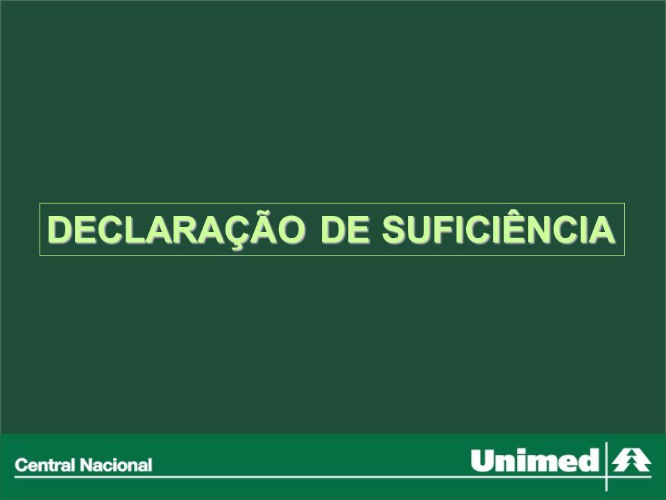 DECLARAÇÃO DE SUFICIÊNCIA