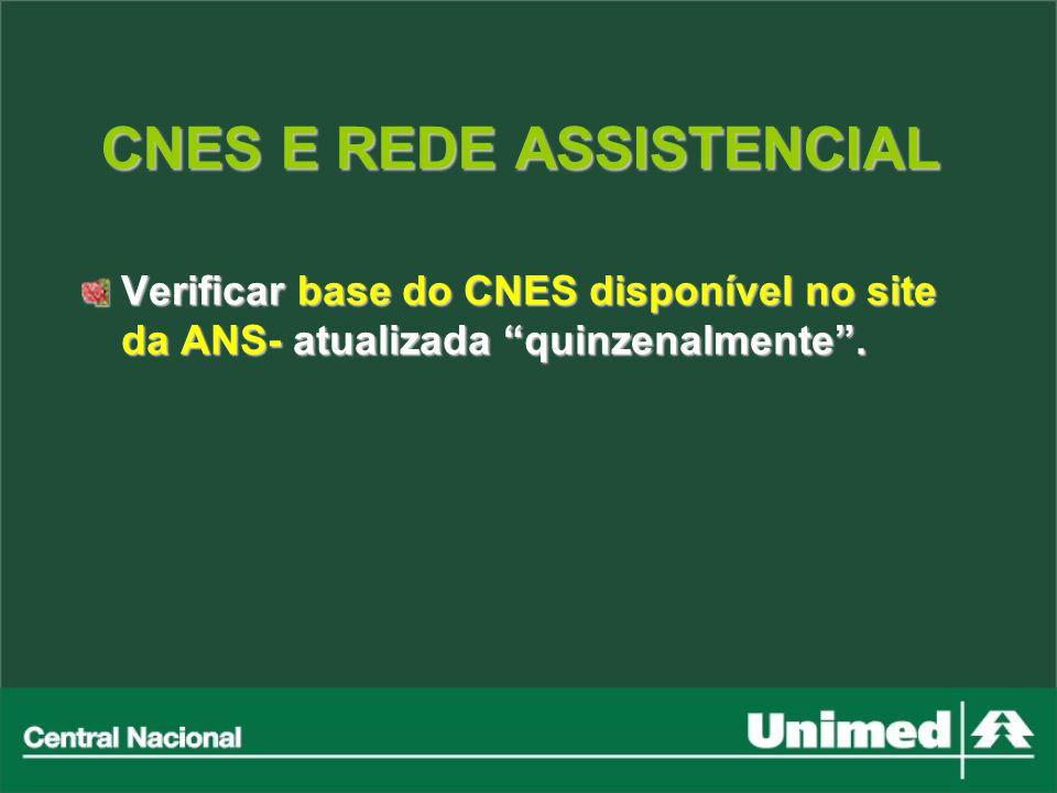 CNES E REDE ASSISTENCIAL