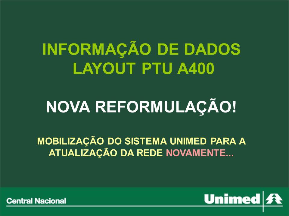MOBILIZAÇÃO DO SISTEMA UNIMED PARA A ATUALIZAÇÃO DA REDE NOVAMENTE...