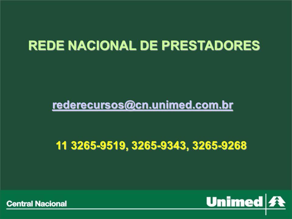 REDE NACIONAL DE PRESTADORES