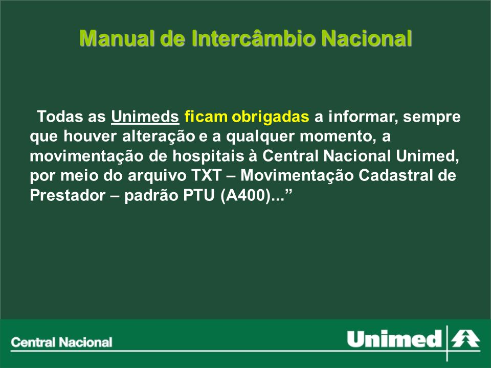 Manual de Intercâmbio Nacional