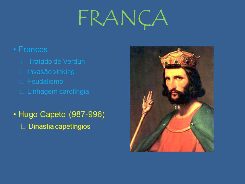 FRANÇA • Francos ∟ Tratado de Verdun • Hugo Capeto (987-996)