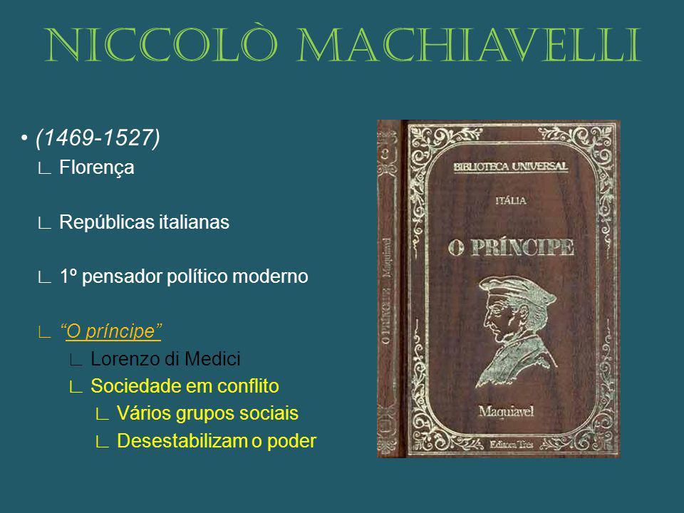 Niccolò Machiavelli • (1469-1527) ∟ Florença ∟ Repúblicas italianas