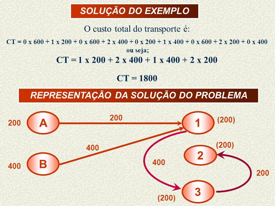 REPRESENTAÇÃO DA SOLUÇÃO DO PROBLEMA