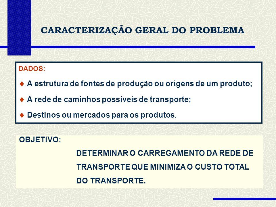 CARACTERIZAÇÃO GERAL DO PROBLEMA
