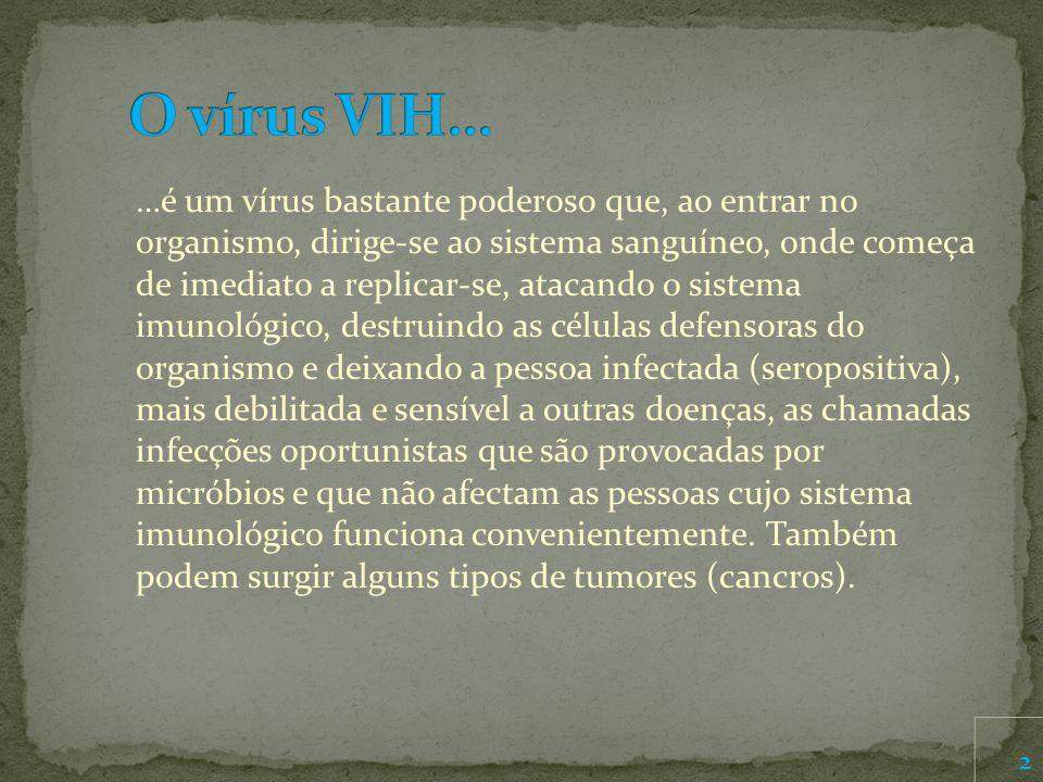 O vírus VIH…