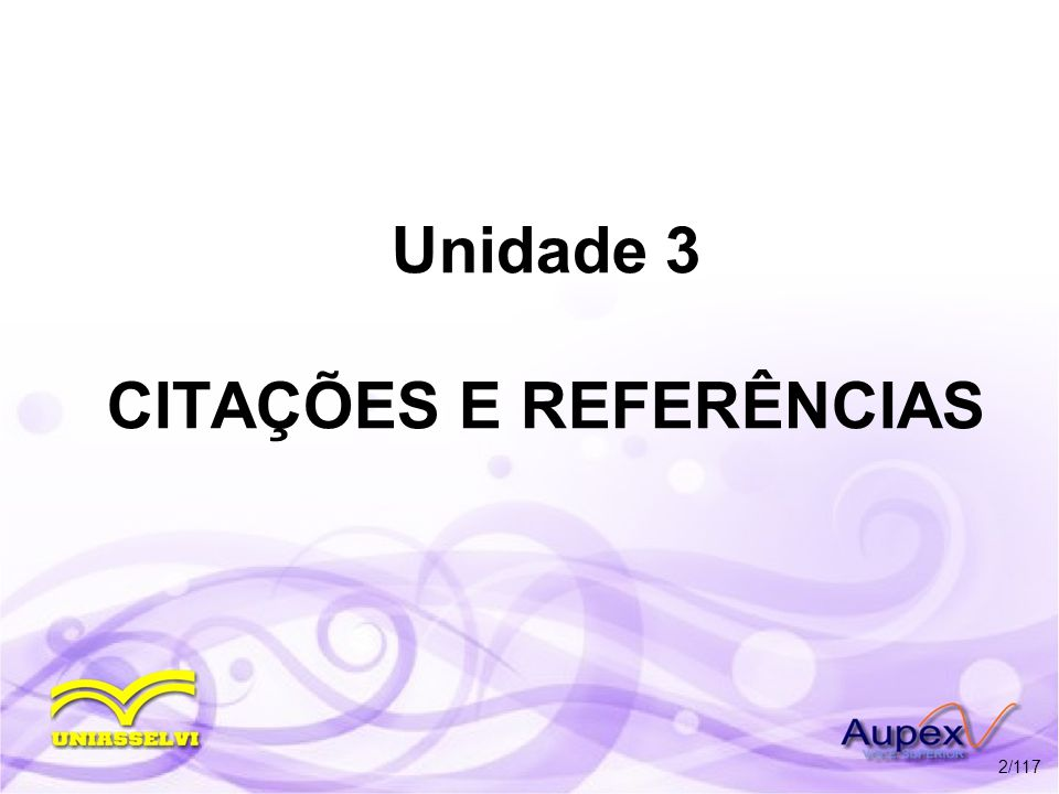 Unidade 3 CITAÇÕES E REFERÊNCIAS