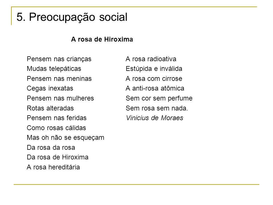 5. Preocupação social A rosa de Hiroxima