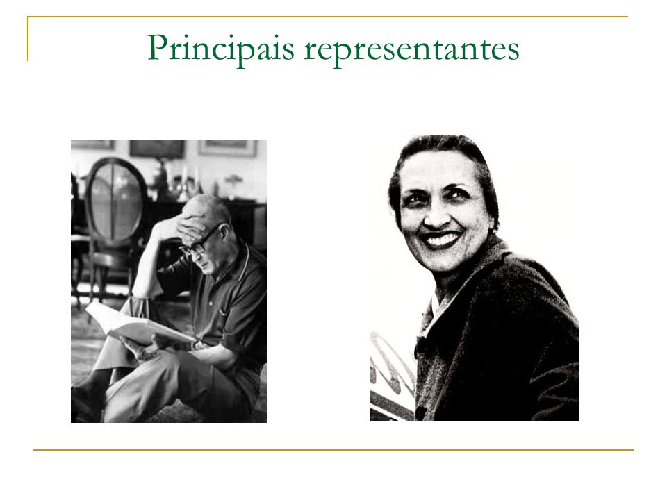 Principais representantes