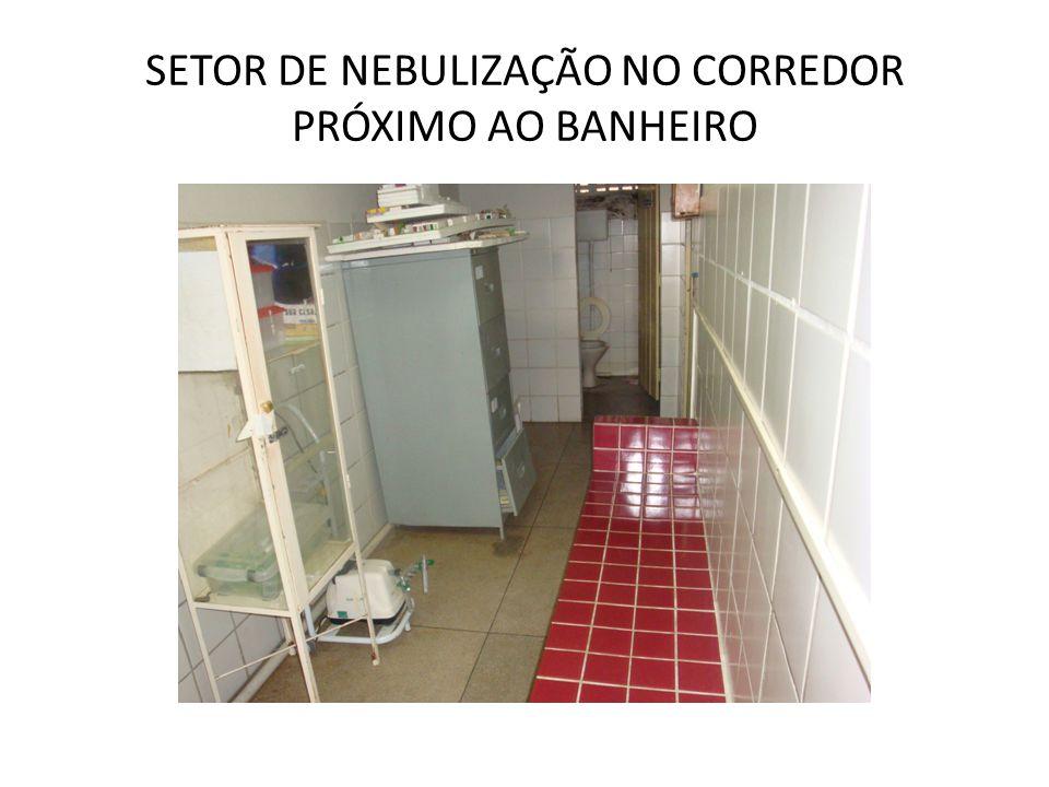SETOR DE NEBULIZAÇÃO NO CORREDOR PRÓXIMO AO BANHEIRO