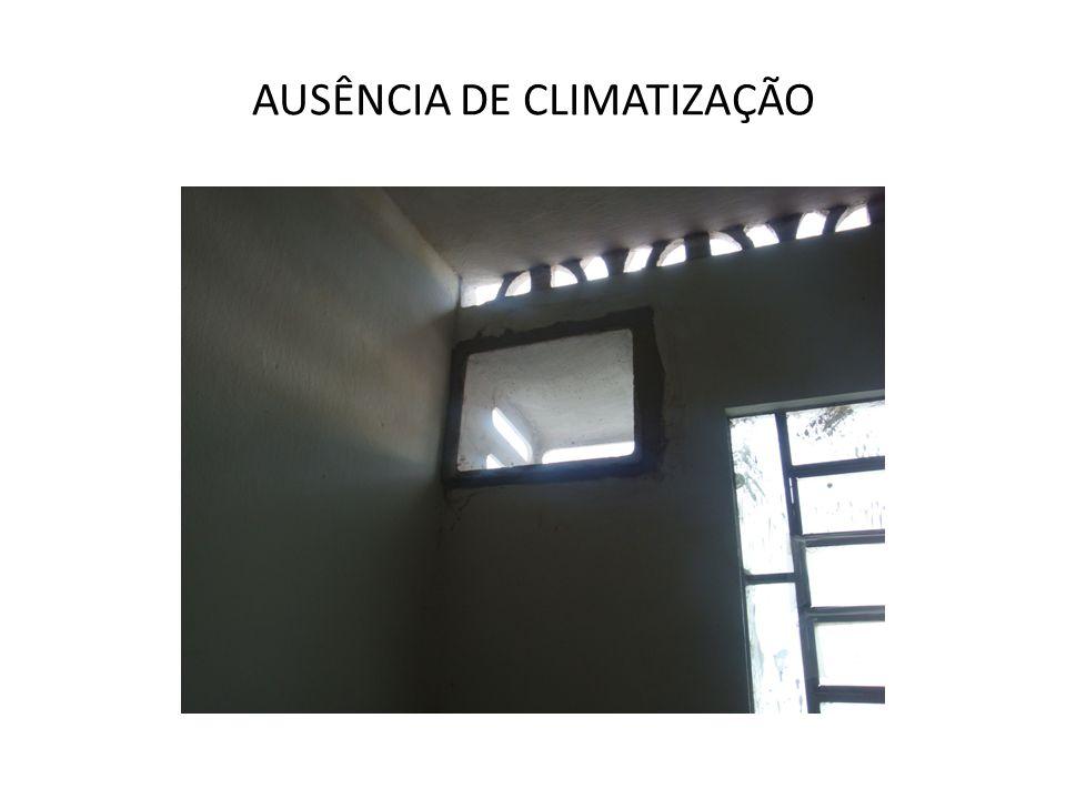 AUSÊNCIA DE CLIMATIZAÇÃO