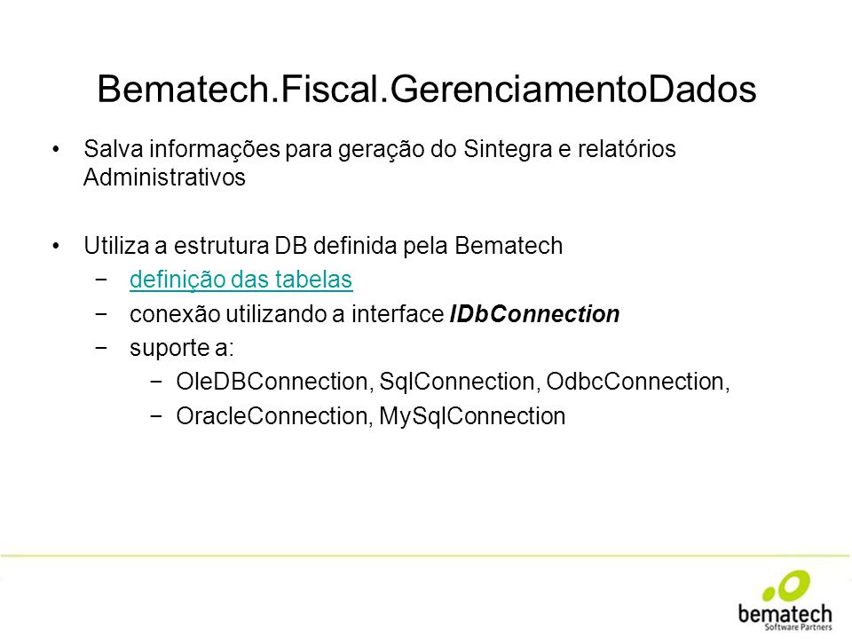 Bematech.Fiscal.GerenciamentoDados