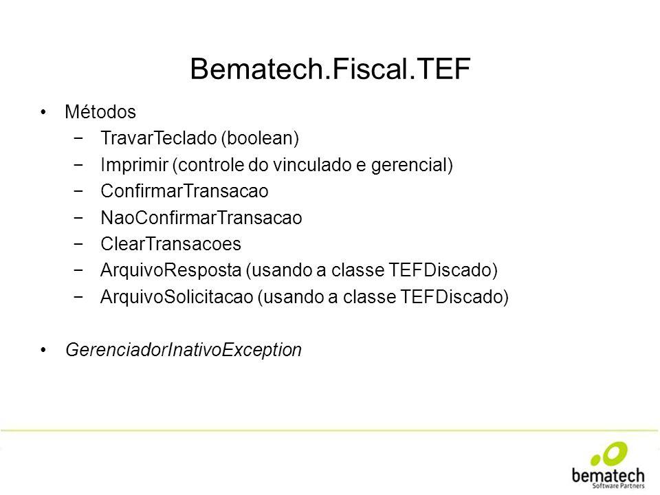 Bematech.Fiscal.TEF Métodos TravarTeclado (boolean)