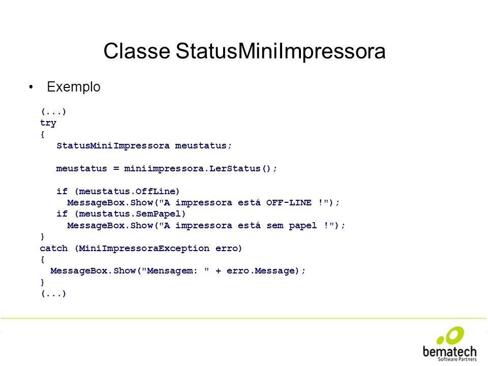 Classe StatusMiniImpressora