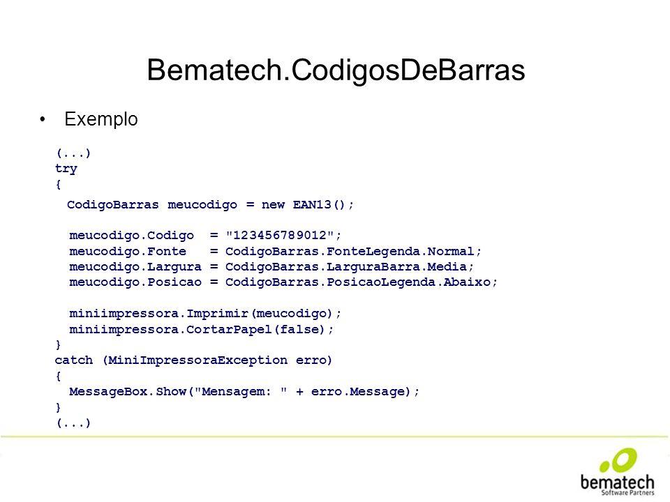 Bematech.CodigosDeBarras
