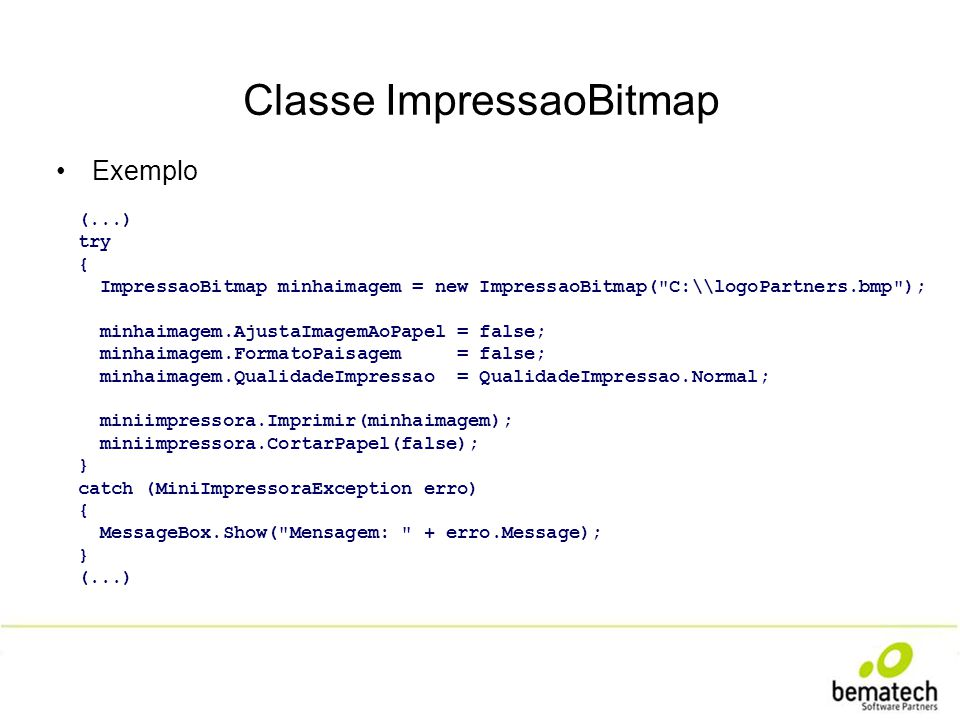Classe ImpressaoBitmap
